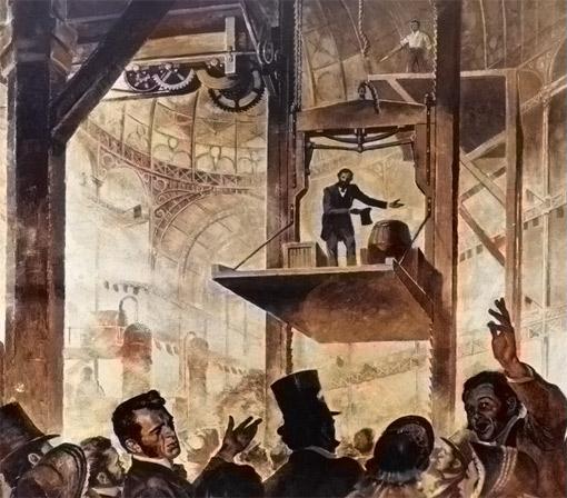 Otis Aufzug 1853 Weltausstellung New York